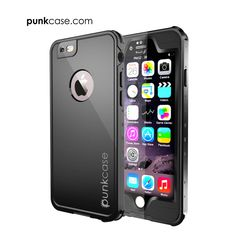 iPhone 6S+/6+ Plus Waterproof Case, PUNKcase StudStar Black Apple iPhone 6S Plus/6 Plus Waterproof Case W/ Attached Screen Protector Lifetime Warranty