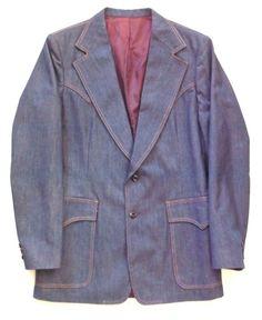 Vintage Men's Lee Denim Blazer Approx. Size 39 by PoorLittleRobin