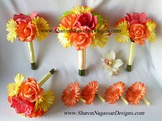yellow daisy wedding bouquets