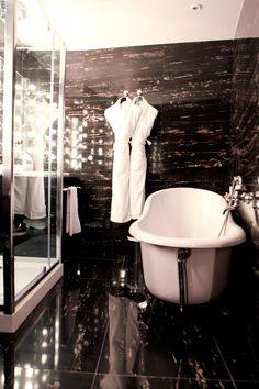 Seven Hotel, Paris (Maranatha Hotels) - The Cabaret Suite Cabaret, Clawfoot Bathtub, Paris, Bathroom, Hotels, Design, Washroom, Montmartre Paris, Full Bath
