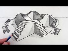 How to Draw Stairs Step by Step in Two Point Perspective - http://www.7tv.net/how-to-draw-stairs-step-by-step-in-two-point-perspective/