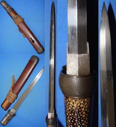 """Yoroi doshi (armor piercing) tanto in aikuchi mount by Soshu Masahiro, possibly the first generation Masahiro who worked circa 1455 and is rated Chujosako in Fujishiro. The nagasa (cutting edge) measures 9+1/2"""", width at machi is 7/8"""" and thickness at the motogasane is 9/16""""."""
