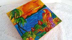 Caixa de mdf pintada