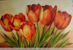paintings of yellow tulips - Yahoo Image Search Results Tulip Painting, China Painting, Fabric Painting, Art Floral, Watercolor Flowers, Watercolor Paintings, Fleur Orange, Acrylic Painting Techniques, Art Moderne