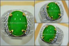 Code:JD 041 + Sertifikat Nama:Natural JADE/GIOK Burma. Tipe A Asal/Origin:Mogok (Burma) Berat Batu:5.82 ct Berat Total:19.3 gr Size/Ukuran:14.1 x 9.3 x 5.7 mm