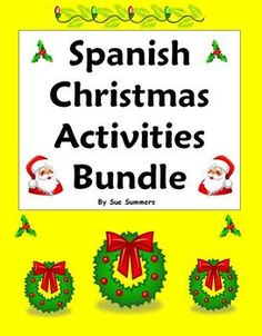 Spanish Christmas Activities Bundle by Sue Summers - Practice Worksheets, Vocabulary and Puzzles