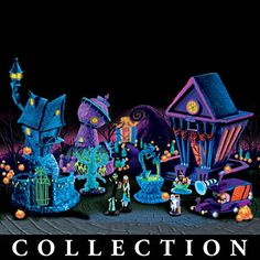 I don't like black lights that much, but this is pretty amazing. New wish list item: Nightmare Before Christmas VIllage.