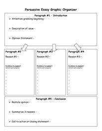 Persuasive Essay Graphic Organizer - Download Now DOC