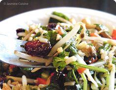 Salade d'amour - Jasmine Cuisine Healthy Recipes, Cooking Recipes, Jasmine, Bbq, Chicken, Wrapping, Restaurants, Balsamic Vinegar, Salads