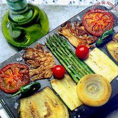 Parrillada de verduras al ajo - perejil : Mi recetario de cocina. Recetas y consejos.