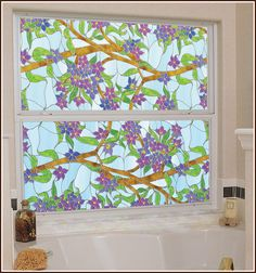 Biscayne Privacy Stained Glass Window Film perfect for my big glass window window ideas Biscayne Privacy Most Beautiful Wallpaper, More Wallpaper, Nature Wallpaper, Stained Glass Window Film, Relaxing Colors, Static Cling, Glass Film, Window Coverings, Decor Styles