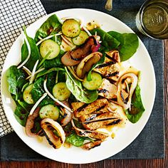 Chinese Black Pepper Pork and Spinach Salad | Sunset.com