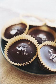 dark chocolate almond butter cups. I see these in our future