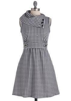 Coach Tour Dress in Houndstooth | Mod Retro Vintage Dresses | ModCloth.com