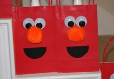 A Learning Journey: E is for an Elmo Themed Birthday Party  Party Favor Bags