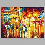 Pintada a mano Paisajes Abstractos Horizontal,Modern Estilo europeo Un Panel Pintura al óleo pintada a colgar For Decoración hogareña 2017 - €30.33