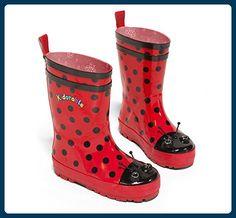 Kidorable Regenstiefel Marienkäfer, Größe 23, rot, mit herausnehmbarer Sohle - Stiefel für frauen (*Partner-Link)