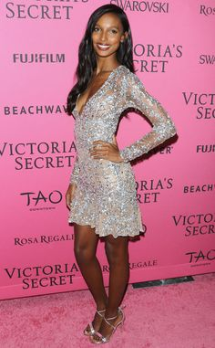 Jasmine Tookes from 2015 Victoria's Secret Fashion Show After-Party  The California native shimmered in an embellished cocktail dress.