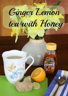 Ginger lemon tea with honey. An easy, healthy tea to make at home. Tastes really good! Ginger Honey Lemon, Ginger Tea, Coffee Bad For You, 5 Ingredient Recipes, Most Delicious Recipe, Healthy Drinks, Healthy Foods, Snack Recipes, Keto Recipes