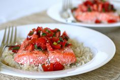 Salmon with Strawberry Salsa–Annie's Eats