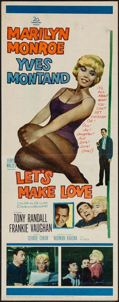 "Movie Posters:Comedy, Let's Make Love (20th Century Fox, 1960). Insert (14"" X 36"").Comedy.. ... Image #1"