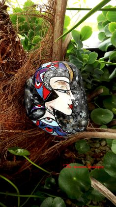 """""""Ruya"""" painted rock by The Stunner Boutique https://www.facebook.com/pages/The-Stunner-Boutique/456809484484281"""