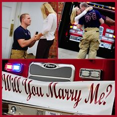 Surprise Firefighter Proposal! Happiest day of my life!! -Morgan Due Photography