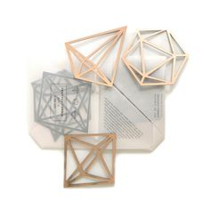 Our famous himmeli mobiles were the inspiration for these gorgeous geometric himmeli coasters! 3 different designs. Colour Rose Gold Lead time 2 weeks until dispatch