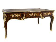 Höhe: 76 cm. Breite: 176 cm. Tiefe: 95 cm. Frankreich, 18. Jahrhundert. Furniert in ausgesuchtem Mahagoni, mit feinen Fadeneinlagen. Frei stellbar. Auf hohen,...