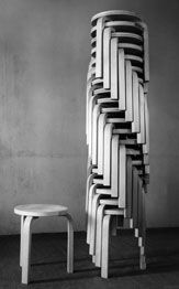 From www.arredativo.it chairs, and chairs and more chairs... a column of chairs...