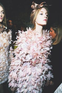 Backsage at Giambattista Valli Haute Couture, spring/summer 2013.