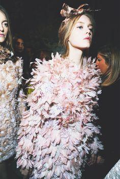Backsage at Giambattista Valli Haute Couture, spring/summer 2013.