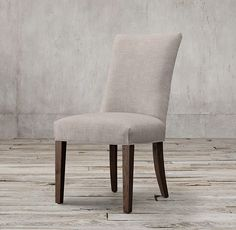 RH's Martine Fabric Side Chair:Inspired by a French design, Martine is elegant yet comfortable. A curved silhouette and tapered legs lend timeless appeal.