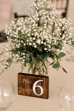 Baby's breath; the only breath you should smell on your big day   | Photo by Hannah Leigh Photo | Spring Wedding | Wedding Flowers | White Flowers | Wedding Table Setting | Centerpiece | Wedding Bouquet
