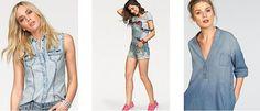 Der Denim Style ist aus der Modewelt nicht mehr wegzudenken! Nicht nur Jeanshosen, auch Blusen, Kleider, Röcke, Westen, Shirts, Jacken und sogar Schuhe gibt es mittlerweile im Denim-Style.  Hier im Jelmoli Online Shop kannst du ein trendiges It-Piece im Denim Look bestellen: http://www.onlinemode.ch/denim-style/