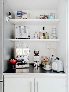 Ideas Small Kitchen Organization Rental Breakfast Bars For 2019 Small Kitchen Pantry, Small Kitchen Organization, Mini Kitchen, New Kitchen, Kitchen Dining, Kitchen Shelves, Kitchen Utensils, Dining Area, Kitchen Ideas