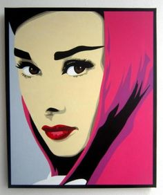 Arte pop audrey hepburn and pinturas en bastidor on pinterest - Cuadro audrey hepburn ...