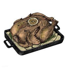 Illustration of a roasted chicken   premium image by rawpixel.com Roasted Chicken, Grilled Chicken, Chicken Illustration, Food Illustrations, Digital Stamps, International Recipes, Inktober, Food Art, Food Truck