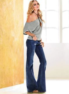 VS belle flare jean and sexy top...have to admit that I like them both!