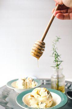 Scoop Adventures Rosemary Honey Walnut ice cream - Vegetarian Ventures