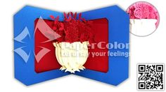 A haft of Flower 3D Pop up card, 3D greeting card, 3D Pop up greeting card, Kirigami card