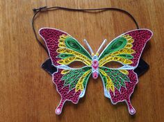 Quilling Butterfly mask