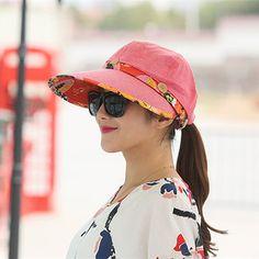 34b78f942d9 Women Foldable Summer UV Protection Beach Sunscreen Sun Hat Outdoor  Gardening Visor Cap at Banggood