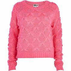 Pink Chelsea Girl bow knit sweater - sweaters - knitwear - women