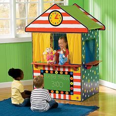 It's a puppet theater, club house, lemonade stand—whatever your child dreams up!