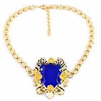 2014 NEW Luxury Gold Crystal Statement Necklace Alloy Chain Women Pendant Necklace Jewelry Supporting Wholesaling and Retailing