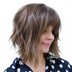 Shaggy bob with bangs by Sal Salcedo                                                                                                                                                                                 More