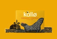 Yummy packaging by Big Fish for Kallo, a natural food company from the UK.