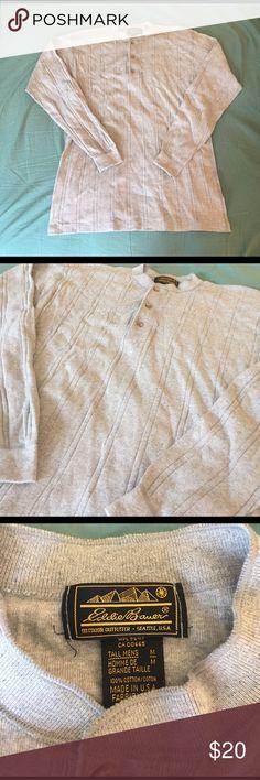 Men's Eddie Bauer Shirt. Gray Eddie Bauer Shirt.  100% Cotton Eddie Bauer Shirts