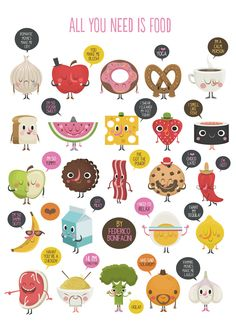 ALL YOU NEED IS FOOD by Federico Bonifacini, via Behance